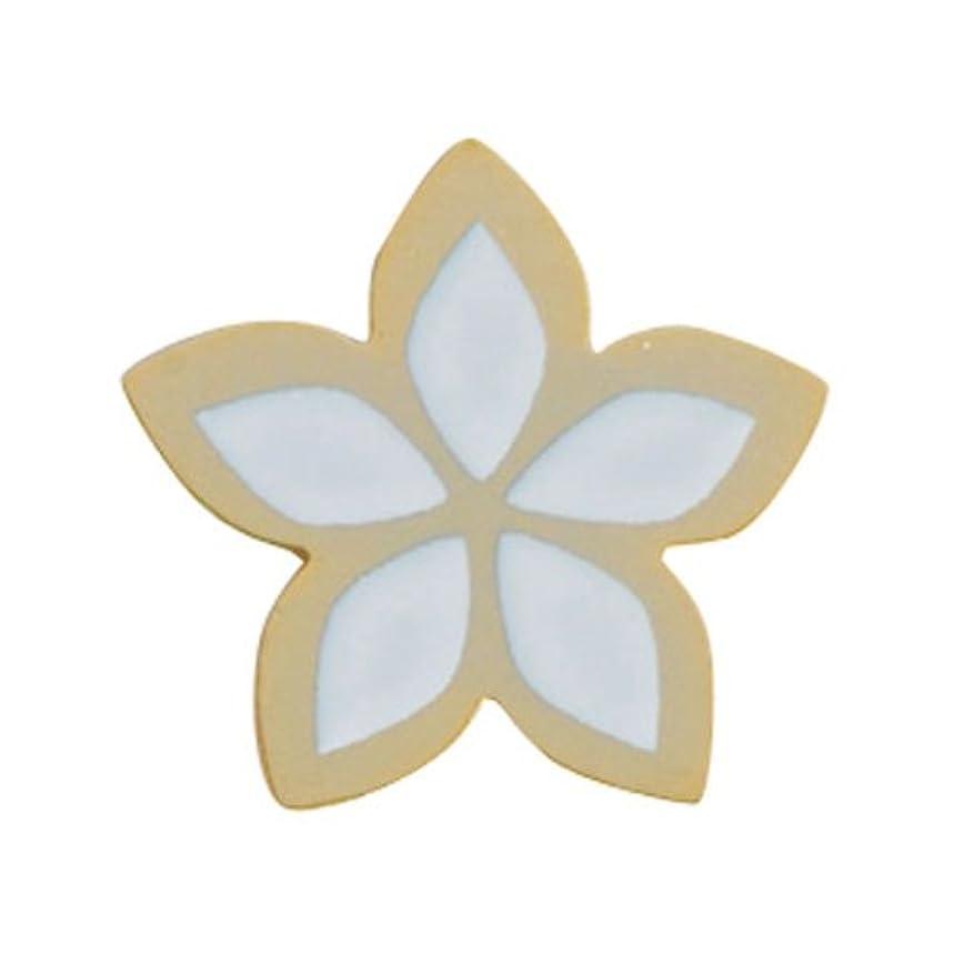 巧みな静けさブレースリトルプリティー ネイルアートパーツ PWトロピカルフラワー S ゴールド 10個