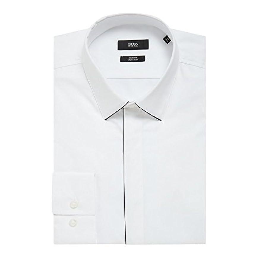 鯨発疹プラスチック(ヒューゴ ボス) Hugo Boss メンズ トップス シャツ Ivan Slim Fit Tipped Collar And Placket Shirt [並行輸入品]