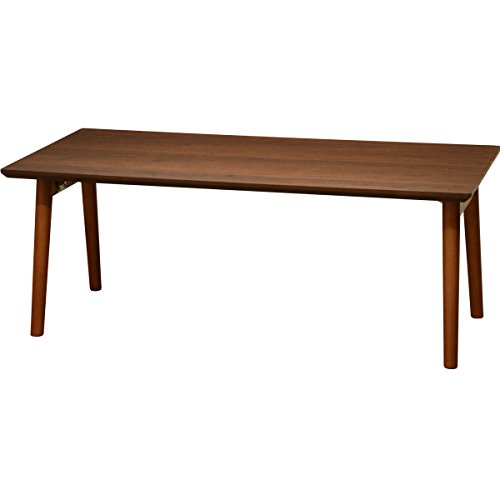 ottostyle.jp 木製折りたたみテーブル センターテーブル ウッドテーブル 90×45×35cm 【ウォールナット】