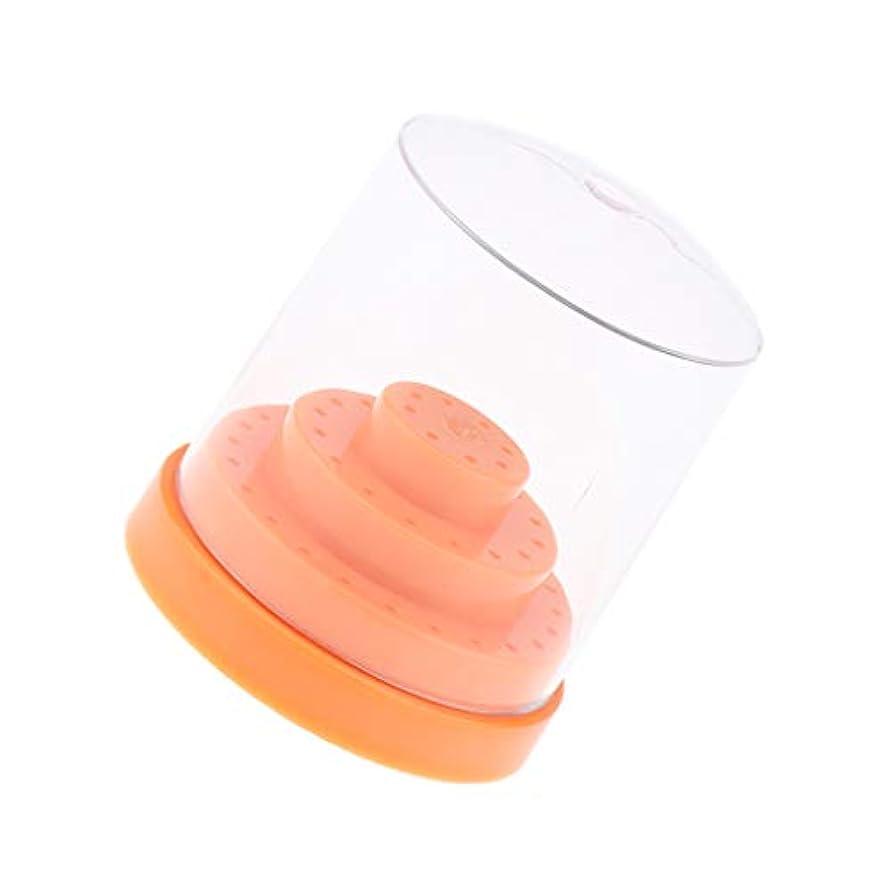 宅配便クーポンレバーネイルドリルビットホルダー 48穴 収納ボックス 全2色 - オレンジ