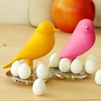 癒し系 かわいい 小鳥 スタンド付き ミニエッグ マグネットセット (ピンク)