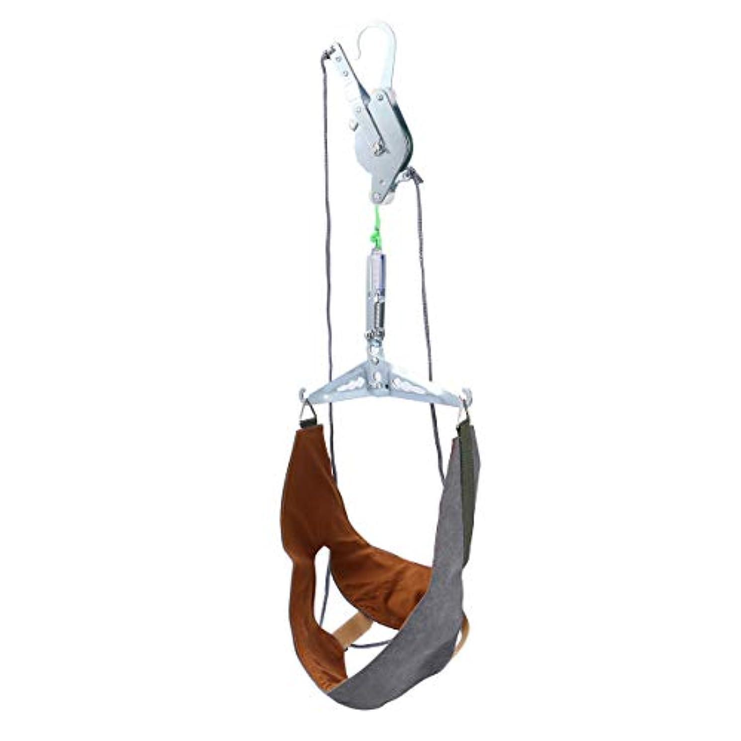 Healifty 家庭用 頚椎 牽引 頭痛 ストレッチ 吊り下げ式 首頸部 マッサージ 牽引装置 ネックサポート 頚椎首ガード保護スリーブ ネックホルダー(ランダムカラー)