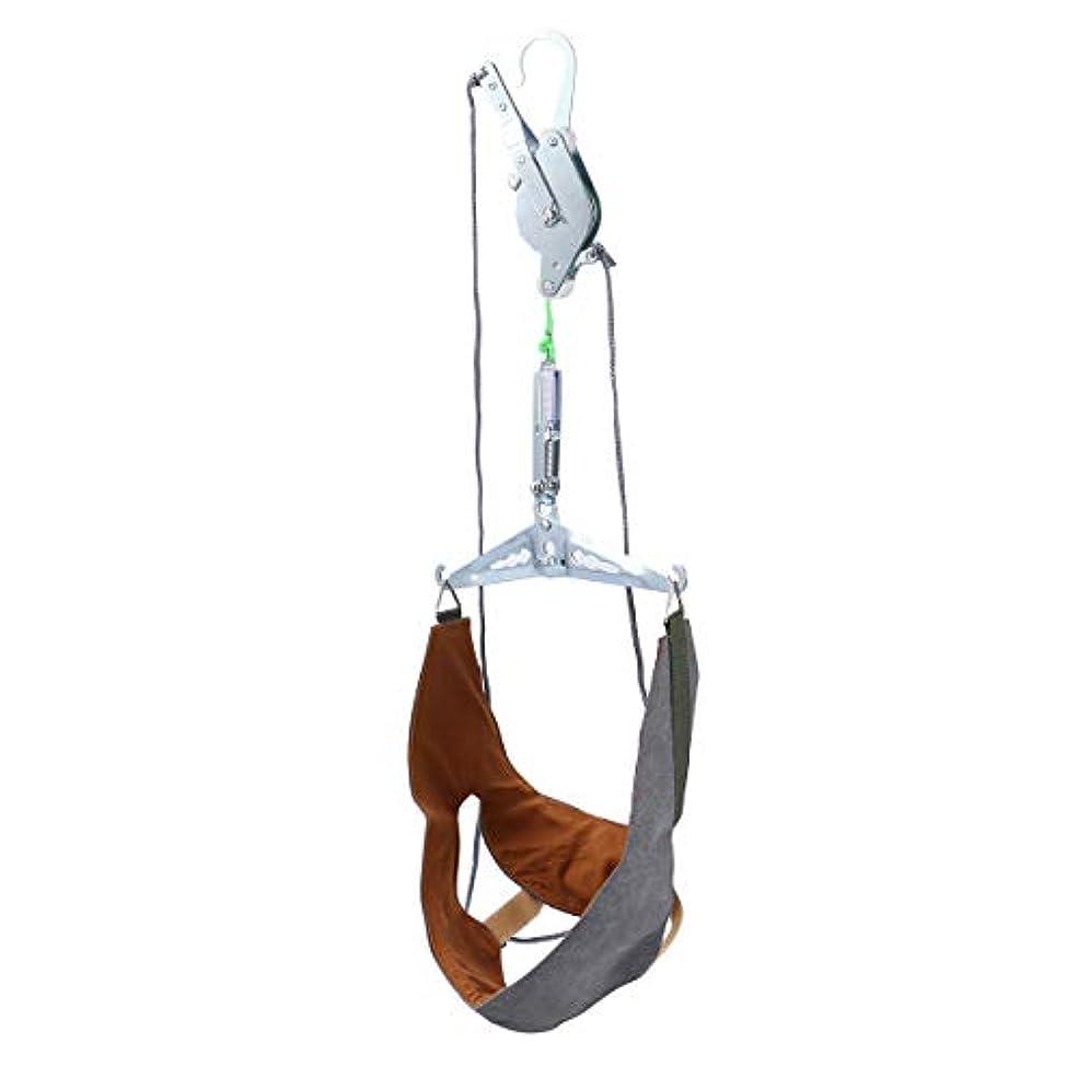 キャリッジどこかロデオHealifty 家庭用 頚椎 牽引 頭痛 ストレッチ 吊り下げ式 首頸部 マッサージ 牽引装置 ネックサポート 頚椎首ガード保護スリーブ ネックホルダー(ランダムカラー)