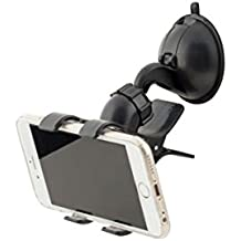 Kikkerland Car Suction Phone Holder, Black