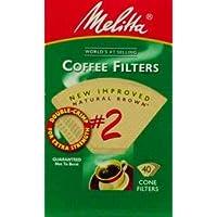Melitta 612412 # 2ナチュラルブラウンコーンコーヒーフィルタ40 Count