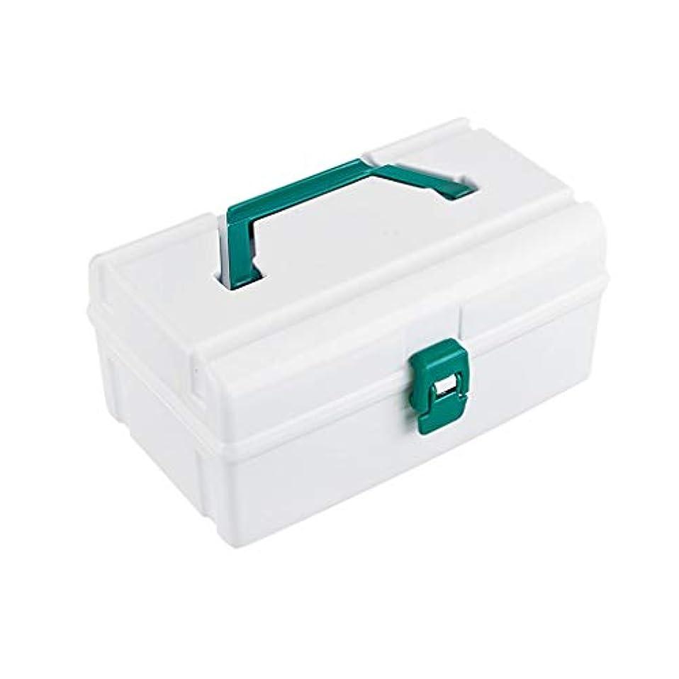 短くする海軍聴く家庭用プラスチック薬箱多層薬収納ボックスポータブル救急箱多機能薬箱 AMINIY (Size : 21×12×10cm)
