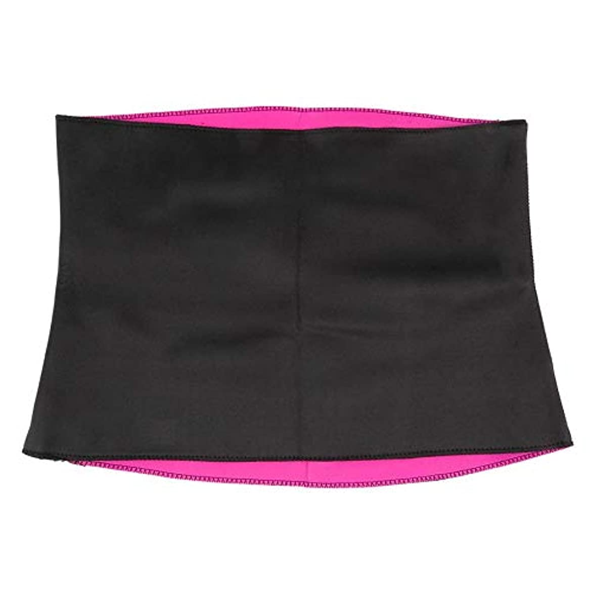 女性成人用固体ネオプレン健康痩身減量ウエストベルトボディシェイパー痩身トレーナートリマーコルセット - 赤&黒