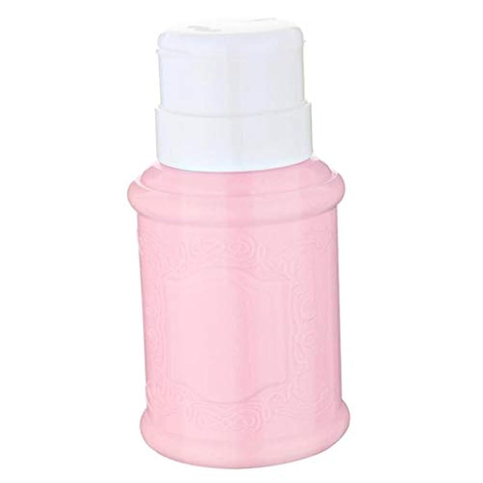 動脈屋内で鮫CUTICATE 全3色 空ポンプ ボトル ネイルクリーナーボトル ポンプディスペンサー ジェルクリーナ - ピンク