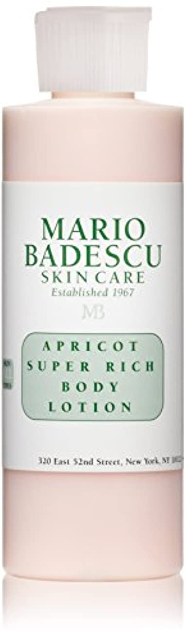 ストリップ電気的意外マリオ バデスク Apricot Super Rich Body Lotion - For All Skin Types 177ml/6oz
