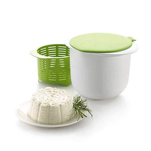 LULAA チーズメーカー チーズ作り器 シリコン製 電子レンジ対応可能 手作り 蓋 ザル付き 簡単な使い方 収納簡単フレッシュチーズ キッチンツール