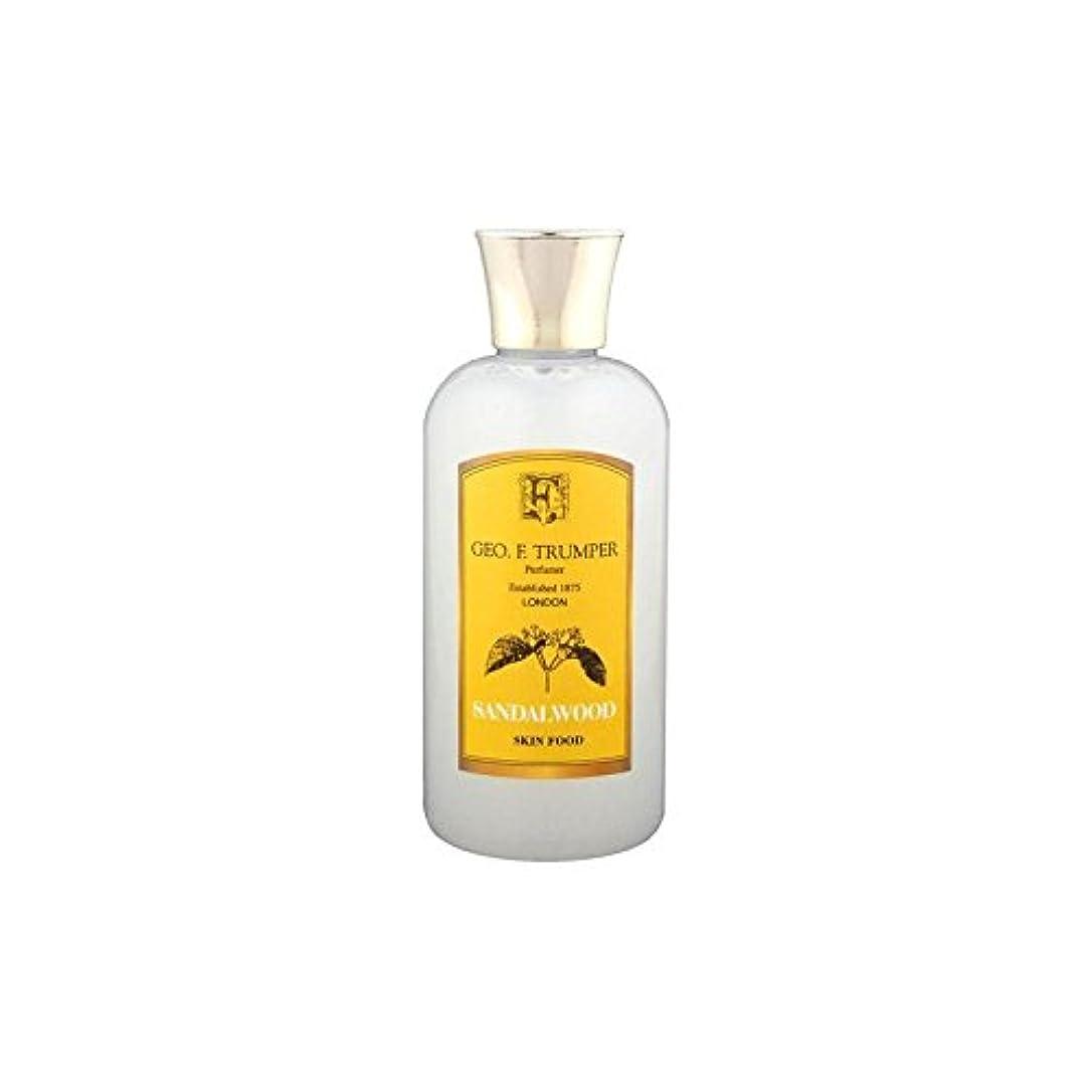 リール暫定のスチュアート島Trumpers Sandalwood Skin Food - 100ml Travel - サンダルウッドスキンフード - 100ミリリットル旅 [並行輸入品]