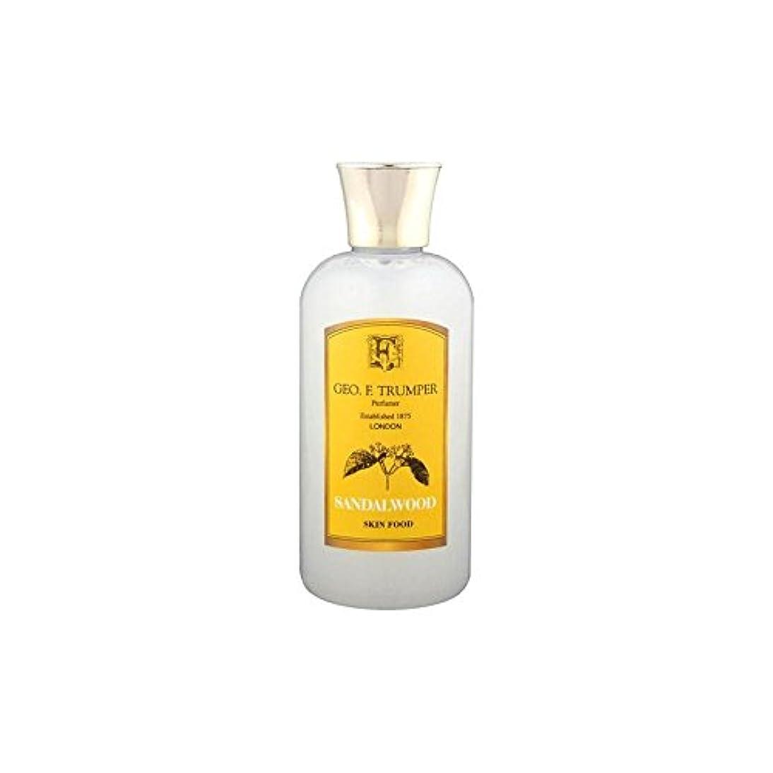 修羅場灌漑匿名サンダルウッドスキンフード - 100ミリリットル旅 x2 - Trumpers Sandalwood Skin Food - 100ml Travel (Pack of 2) [並行輸入品]