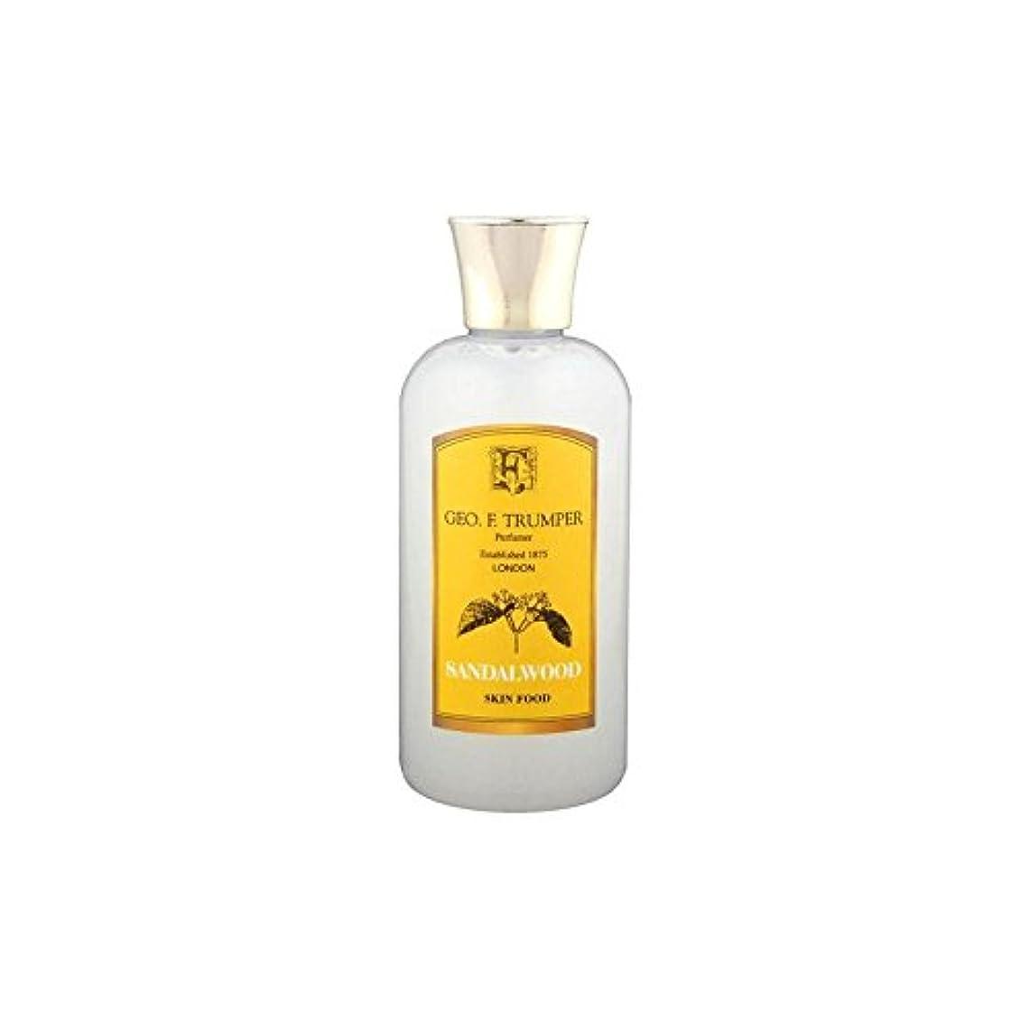 機関スープ不倫Trumpers Sandalwood Skin Food - 100ml Travel (Pack of 6) - サンダルウッドスキンフード - 100ミリリットル旅 x6 [並行輸入品]