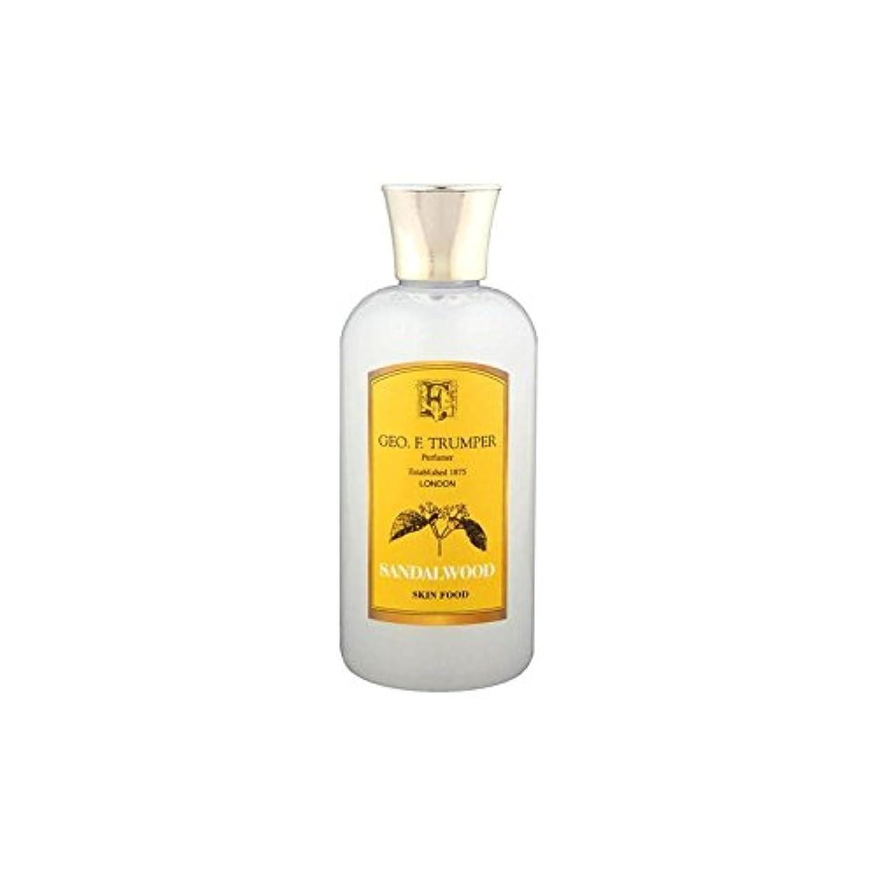 ネーピア幸運通行料金Trumpers Sandalwood Skin Food - 100ml Travel (Pack of 6) - サンダルウッドスキンフード - 100ミリリットル旅 x6 [並行輸入品]