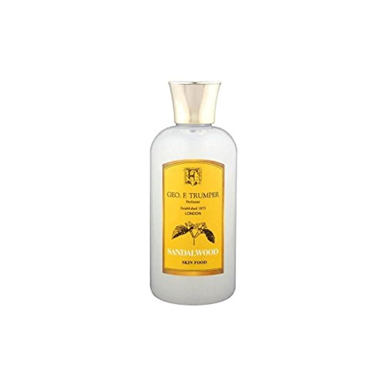 日没水陸両用局Trumpers Sandalwood Skin Food - 100ml Travel (Pack of 6) - サンダルウッドスキンフード - 100ミリリットル旅 x6 [並行輸入品]