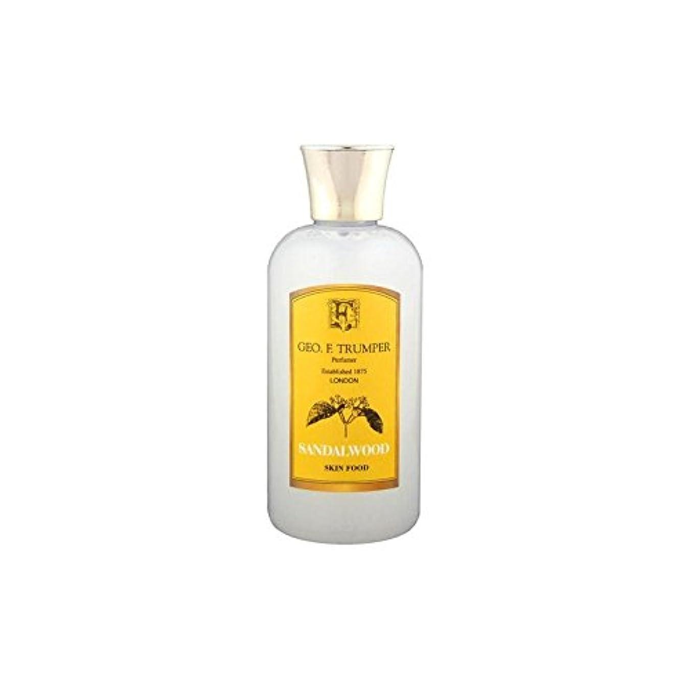 女王リアルホイールサンダルウッドスキンフード - 100ミリリットル旅 x4 - Trumpers Sandalwood Skin Food - 100ml Travel (Pack of 4) [並行輸入品]