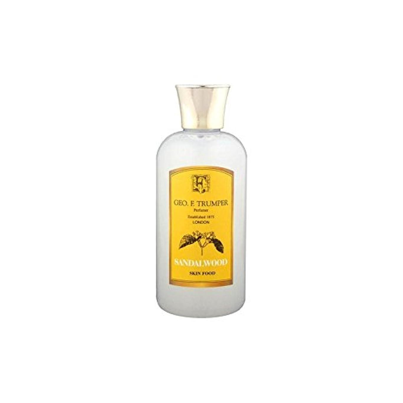 パステル製品ポットサンダルウッドスキンフード - 100ミリリットル旅 x4 - Trumpers Sandalwood Skin Food - 100ml Travel (Pack of 4) [並行輸入品]