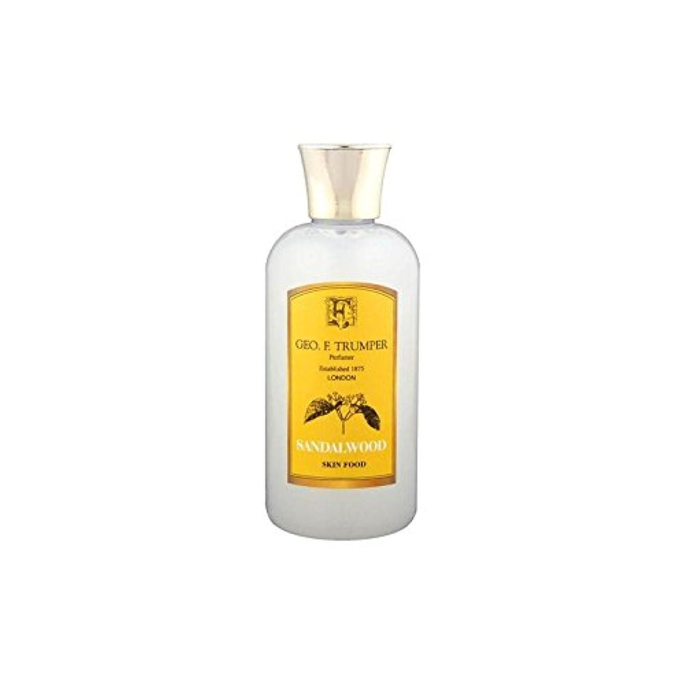 ラテン症候群土器サンダルウッドスキンフード - 100ミリリットル旅 x4 - Trumpers Sandalwood Skin Food - 100ml Travel (Pack of 4) [並行輸入品]