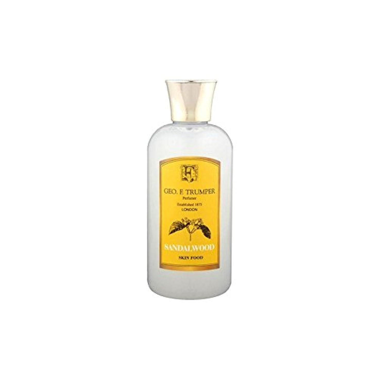 豊富に疼痛蒸発Trumpers Sandalwood Skin Food - 100ml Travel - サンダルウッドスキンフード - 100ミリリットル旅 [並行輸入品]