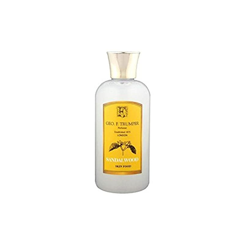 Trumpers Sandalwood Skin Food - 100ml Travel - サンダルウッドスキンフード - 100ミリリットル旅 [並行輸入品]