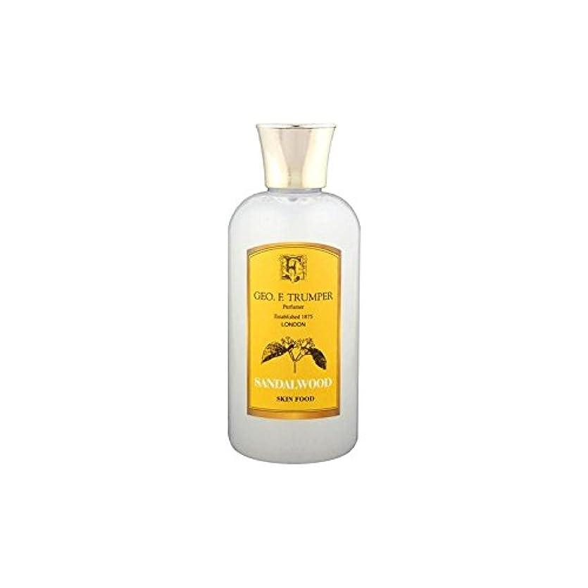 取り出す鎮痛剤今Trumpers Sandalwood Skin Food - 100ml Travel (Pack of 6) - サンダルウッドスキンフード - 100ミリリットル旅 x6 [並行輸入品]