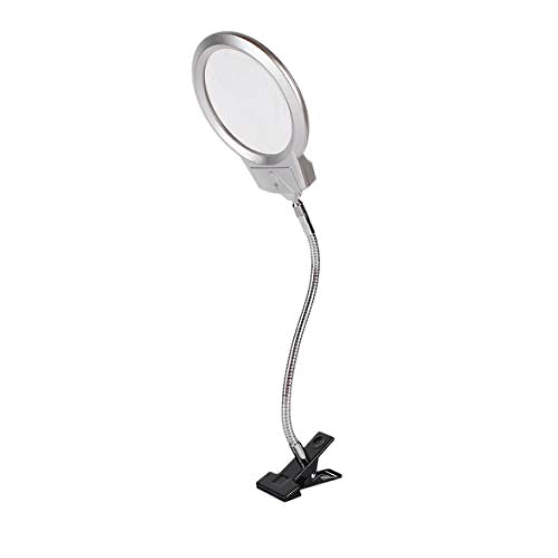 憎しみハイランド透けて見えるデスクトップ上のintercoreyクリップ照明付き拡大鏡虫眼鏡読書ルーペメタルホースLEDランプ付きランプトップデスク拡大鏡とクランプ