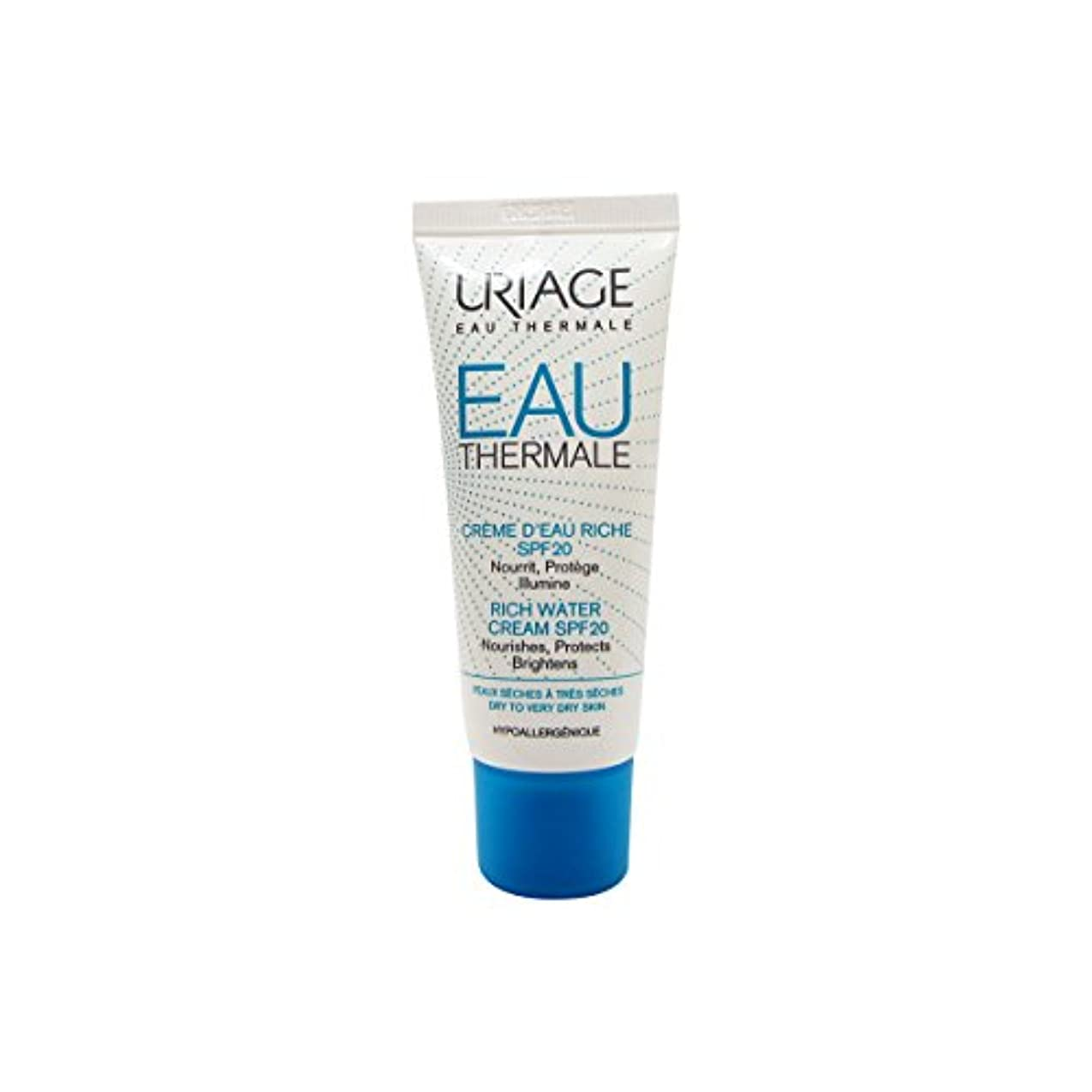 請求可能先入観広範囲にUriage Rich Water Cream Dry Skin Spf20 40ml [並行輸入品]