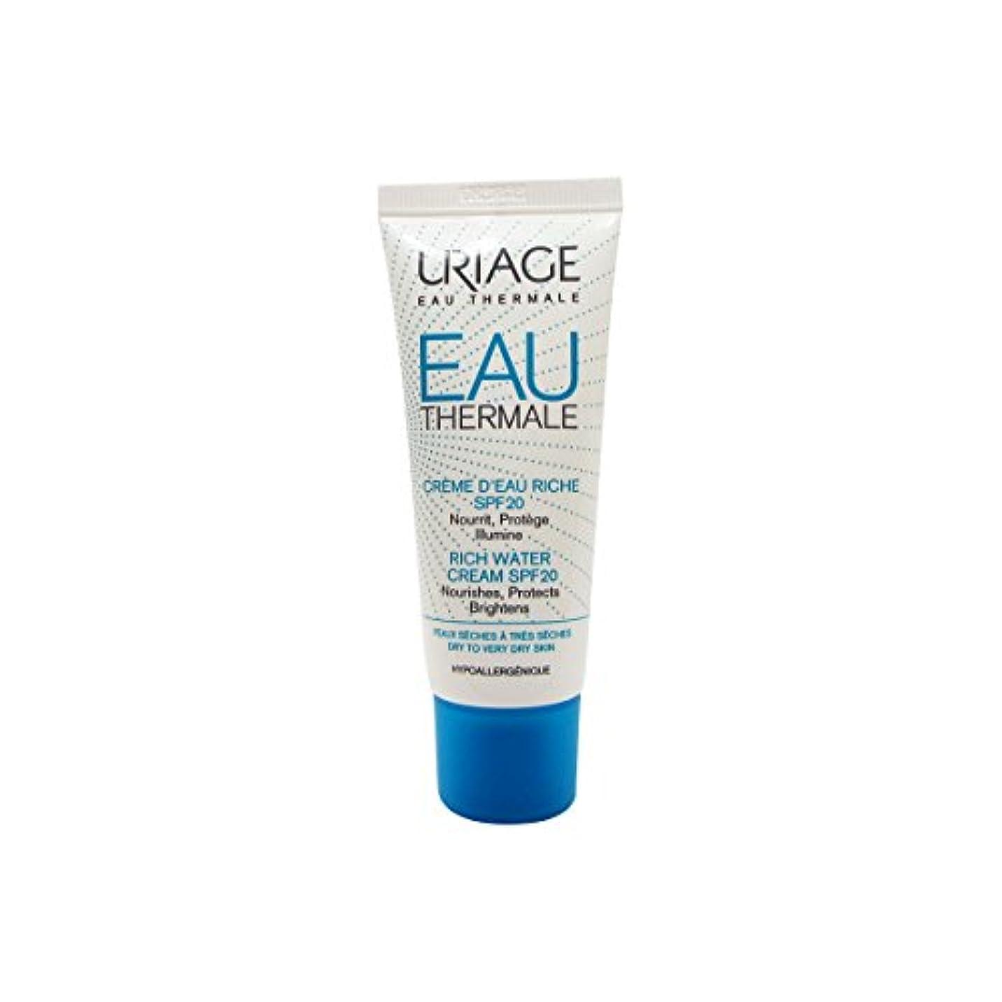 まとめる野心更新するUriage Rich Water Cream Dry Skin Spf20 40ml [並行輸入品]