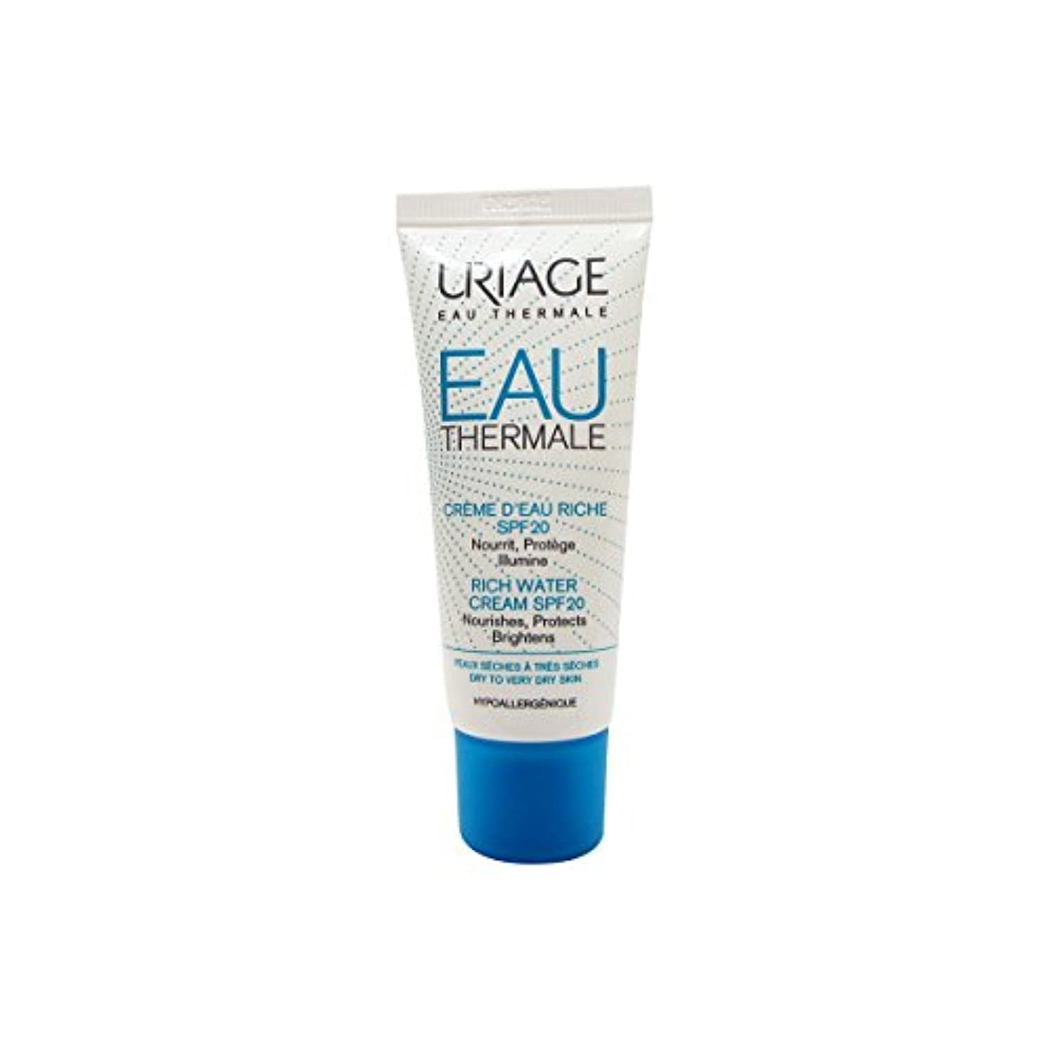 月面皮肉な逆説Uriage Rich Water Cream Dry Skin Spf20 40ml [並行輸入品]