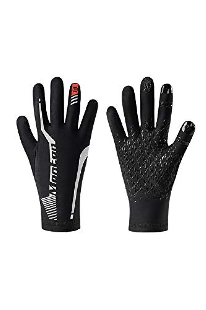 人工ミュウミュウ奇跡Monton[モントン]冬用サイクリンググローブ(自転車用手袋長指)[SOAR] ブラック?Sサイズ