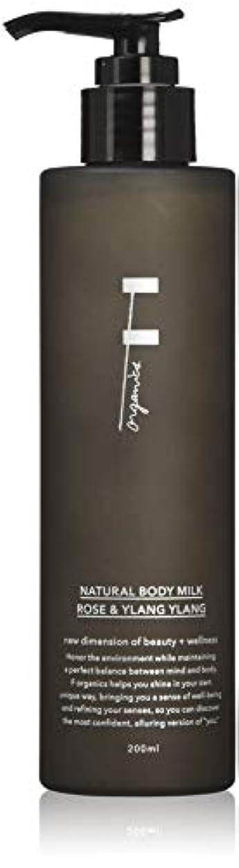 終わった菊買い手F organics(エッフェオーガニック) ナチュラルボディミルク ローズ&イランイラン 300ml