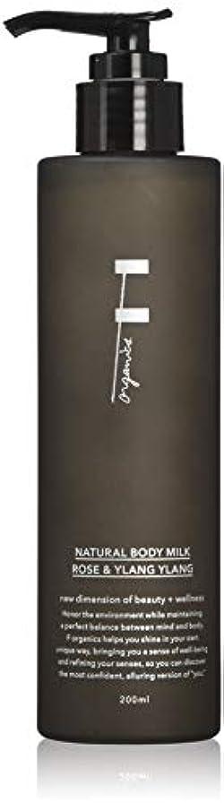 涙が出るポスター魅惑するF organics(エッフェオーガニック) ナチュラルボディミルク ローズ&イランイラン 300ml