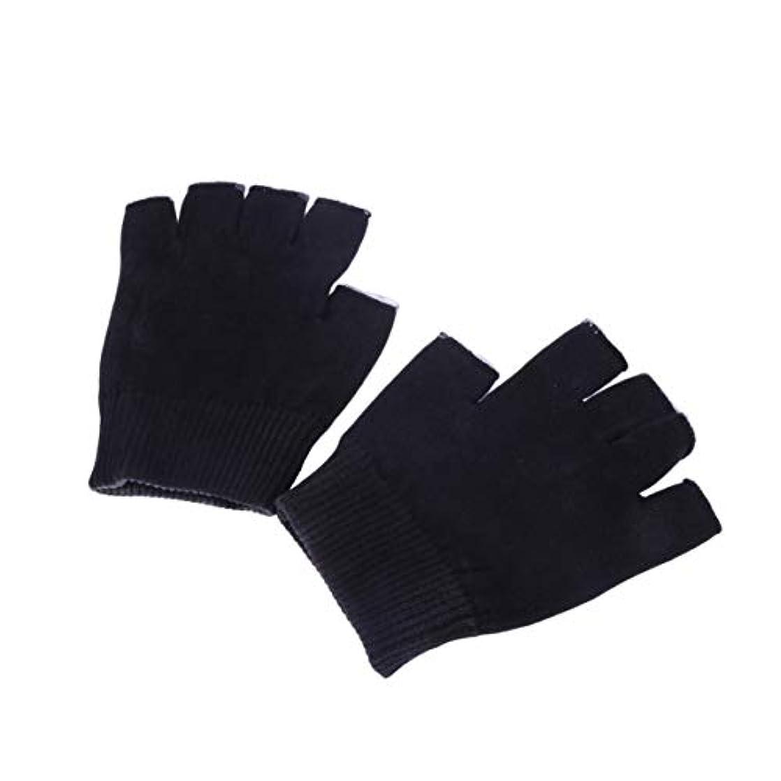 Healifty 保湿手袋ゲル手袋サイズm(黒)