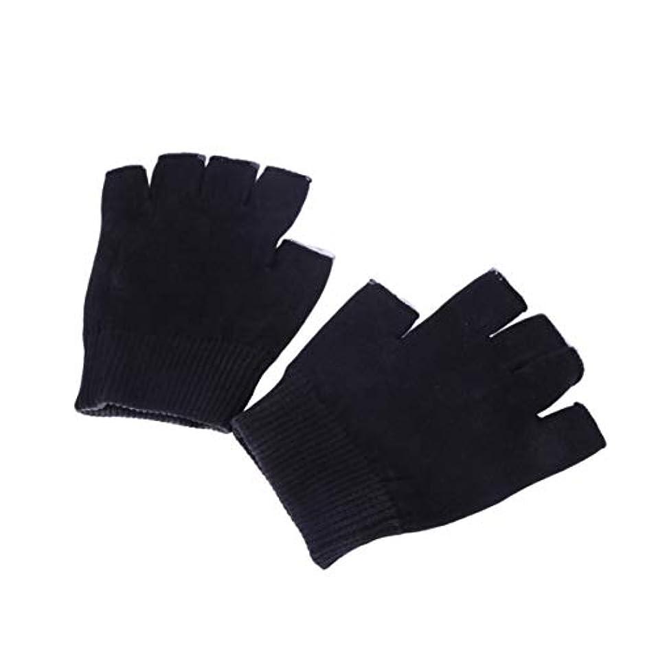 虚偽食器棚曖昧なHealifty 保湿手袋ゲル手袋サイズm(黒)