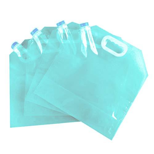 LXLY専売 ウォーターバッグ 避難/防災グッズ ウォータータンク 折りたたみ式 ポータブル 5L/10L 水袋 コンパクト 持ち運びに便利 繰り返し使用も可能 大容量 折りたたみ 貯水 水袋  安全性も高い 4枚入