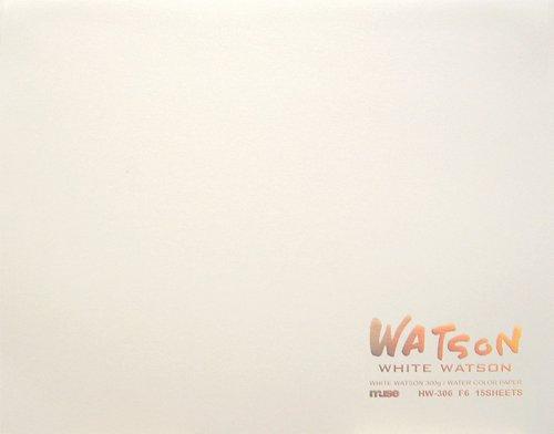 ミューズ 水彩紙 ホワイトワトソンブロック F2 300g ホワイト 15枚入り HW-302 F2