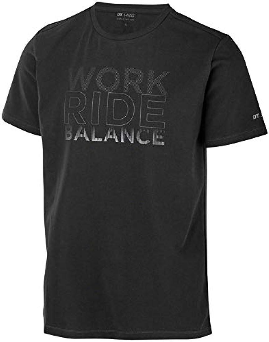 リーク人柄ピンチDT Swiss Work-Ride-Balance メンズTシャツ:ブラック、SM