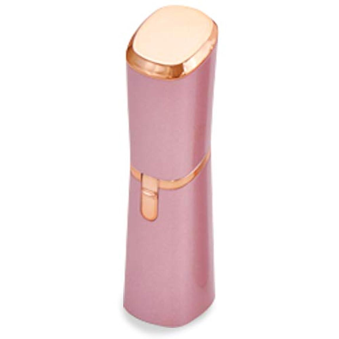 メタリック運賃一時的リップスティック型シェーバー Sorouge(ソルージュ) ピンク