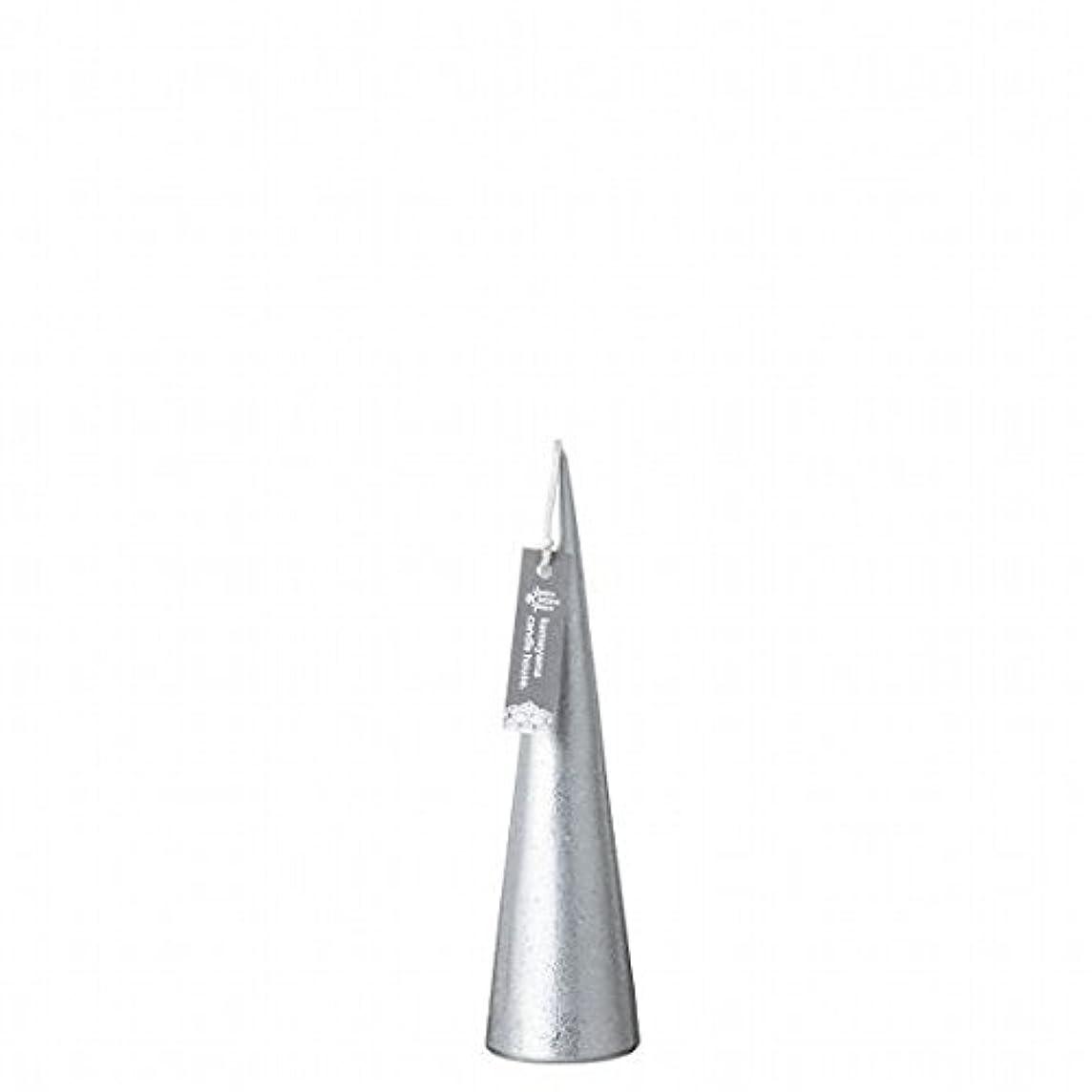 神社ウェーハ愛撫kameyama candle(カメヤマキャンドル) メタリックコーンS 「 シルバー 」(A9560100SI)