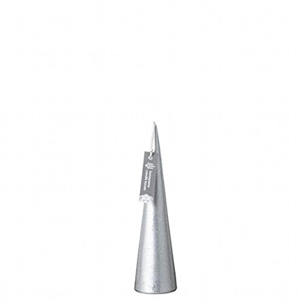 変装高音ペダルkameyama candle(カメヤマキャンドル) メタリックコーンS 「 シルバー 」(A9560100SI)
