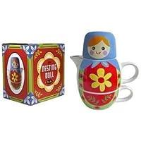 Streamline Nesting Dolls Tea for Two Set - Blue by Streamline [並行輸入品]