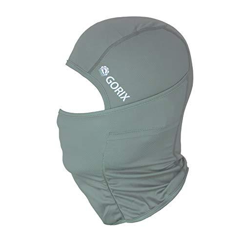 GORIX(ゴリックス) バラクラバ 夏 速乾 目出し帽[夏用 UVカット フェイスマスク ヘッドマスク サイクルマスク] バイク 自転車 アウトドア (mask-6) (ライトグレー)