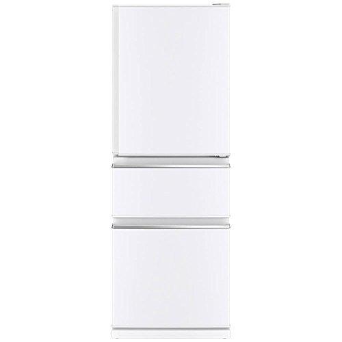 三菱 冷蔵庫 スリムタイプ 右開き 330L パールホワイト ...