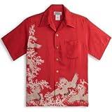 MAKANALEI(マカナレイ) アロハシャツ【鶴】AMT-079/RED