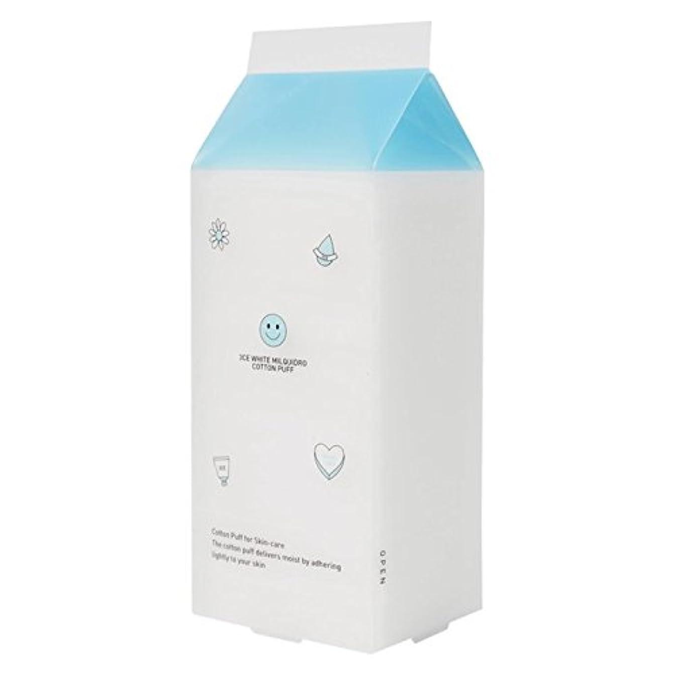 エーカー問い合わせ社説3CE WHITE MILQUIDRO COTTON PUFF / 3CE ホワイトミルクウィドローコットンパフ 100枚 [並行輸入品]