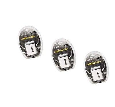 3x Batteries for Olympus fe-5050、Olympus fe-5500、Olympus VR - 310、Olympus VR - 320、Olympus VR - 330、Olympus SP - 700、Olympus TG - 310、Olympus X - 15