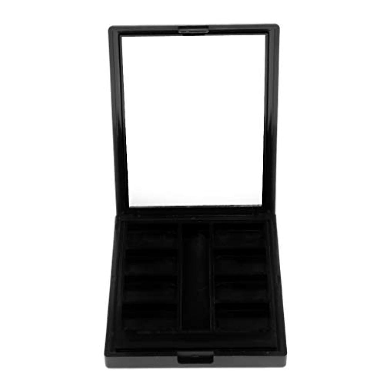 シールド変形化粧Perfeclan 空ケース メイクアップパレット パウダー アイシャドー ブラッシャー リップグロス DIY 2タイプ選べ - 8グリッド