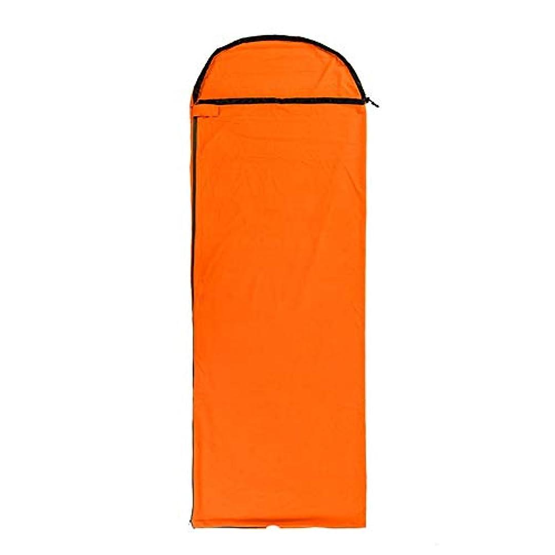ネーピアファウルピース寝袋アウトドアアウトドアブッシュスリーシーズンキャンプ キャンプキャンプ大人の寝袋超軽量ポータブル夏春秋厚い冬暖かいライナー で利用できる単一の二重色 (色 : Orange)
