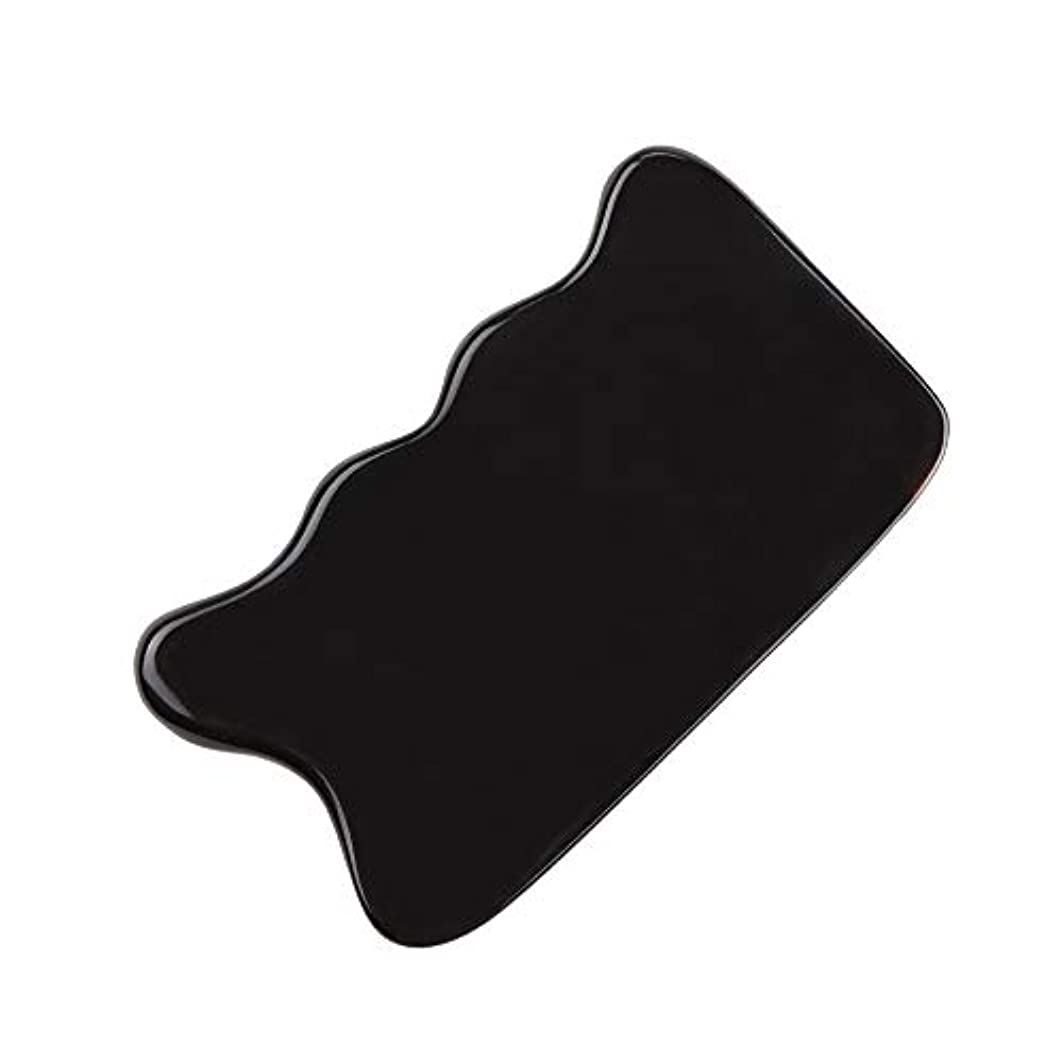 MUOBOFU カッサ?マッサージ?美容器 スクレーパー 天然牛の角製 筋脈リラックス 個性logoカスタマイズ