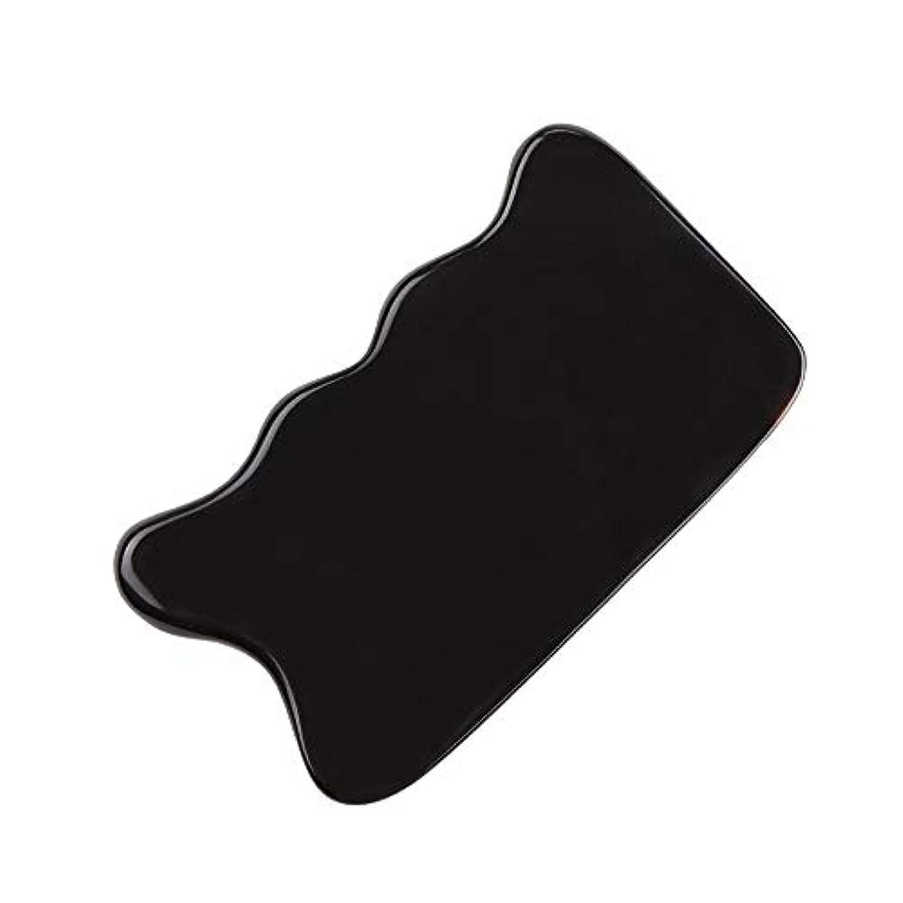 思われる移植同情的MUOBOFU カッサ・マッサージ・美容器 スクレーパー 天然牛の角製 筋脈リラックス 個性logoカスタマイズ
